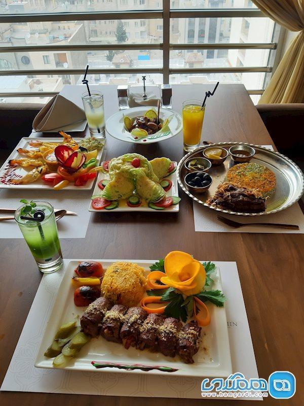 کافه رستوران تهران بین چشم اندازی زیبا به کوه های تهران